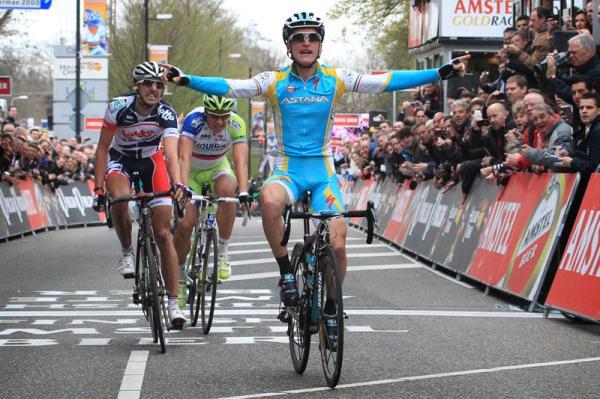 Il successo di Gasparotto allAmstel del 2012 (foto Bettini)