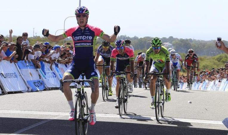 Modolo a segno nella tappa conclusiva del Tour de San Luis (foto Bettini)