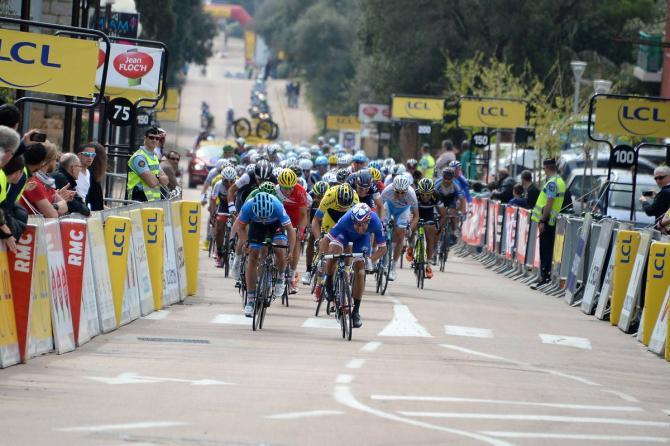 Bouhanni ad un passo dalla vittoria nella tappa mattutina del primo giorno del Critérium International (foto ASO/P.Perreve)