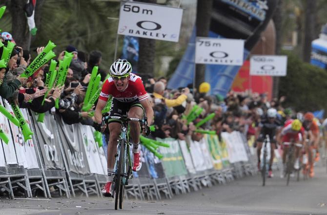 Stef Clement lanciato a tutta verso il successo nella sesta frazione del Giro di Catalogna (Tim de Waele/TDW Sport)