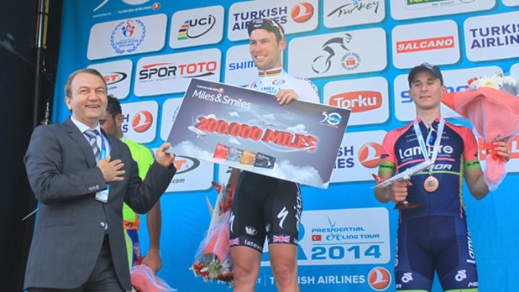 Vittoria particolarmente fortunata quella ottenuta da Cavendish alla seconda tappa del Giro di Turchia (www.fanatik.com.tr)