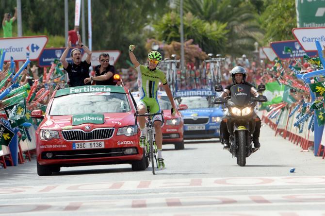 Con Alessandro De Marchi, primo trionfo italiano sulle strade della Vuelta 2014 (foto Bettini)
