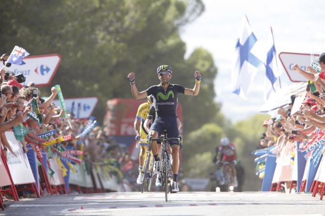 Valvede trionfa nel primo traguardo di montagna della Vuelta 2014 (foto Bettini)