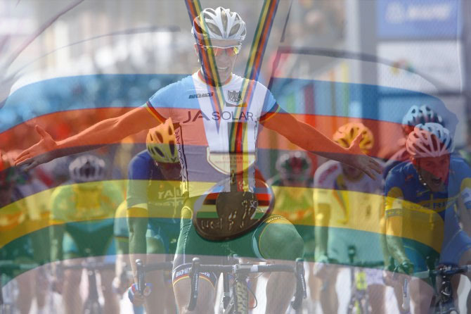 Il tedesco Bokeloh conquista allo sprint il titolo mondiale sul circuito di Ponferrada (foto Bettini)