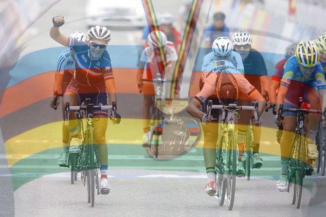 La francese Pauline Ferrand-Prévot si laurea campionessa del mondo femminile ai mondiali di Ponferrada (foto Bettini)
