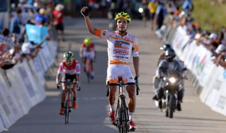 Il brasiliano Da Silva vince il tappone del Tour de San Luis 2015 (foto Tim de Waele/TDWSport.com)