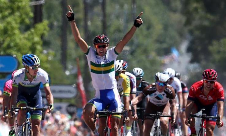 Continua il momento doro degli australiani nella loro principale corsa a tappe: ora è Von Hoff ad esultare (foto Tim de Waele/TDWSport.com)