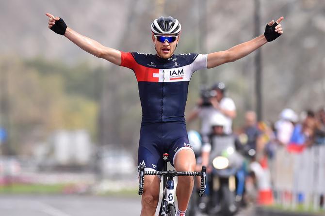 Lex recordman dellora Matthias Brändle si impone sullultimo traguardo del Tour of Oman (Tim de Waele/TDWSport.com)