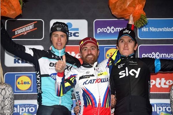 Paolini, Terpstra e Thomas sul podio (foto Tim De Waele/TDWSport.com)