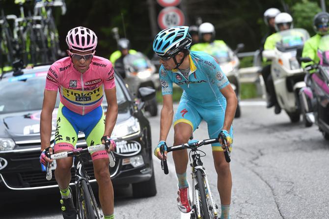 Aprica: ora il gioco di sguardi è tra Contador e Landa (foto Tim de Waele/TDWSport.com)