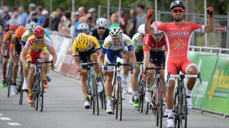Bouhanni perfeziona con la vittoria nella Halle-Ingooigem la propria macchina in vista del Tour de France (foto AFP)