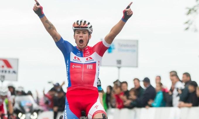 Primož Roglič si impone nella frazione che ha deciso la sorte del 22° Giro di Slovenia (www.siol.net)