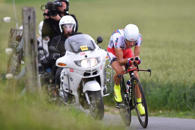 Simon Spilak in azione nella determinate cronometro di Berna (foto Tim de Waele/TDWSport.com)