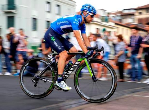 Visconti in maglia azzurra allultimo Giro dItalia (@giovisco Twitter)