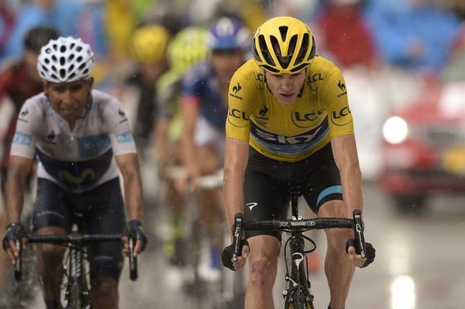 Quintana e Froome al traguardo di Plateau de Beille (Getty Images Sport)