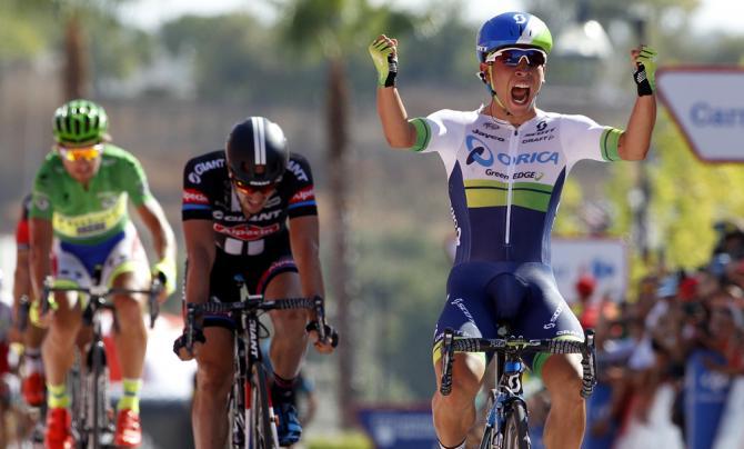 Il ventunenne Caleb Ewan batte allo sprint Degenkolb e Sagan nella quinta frazione della Vuelta a España (Getty Images)