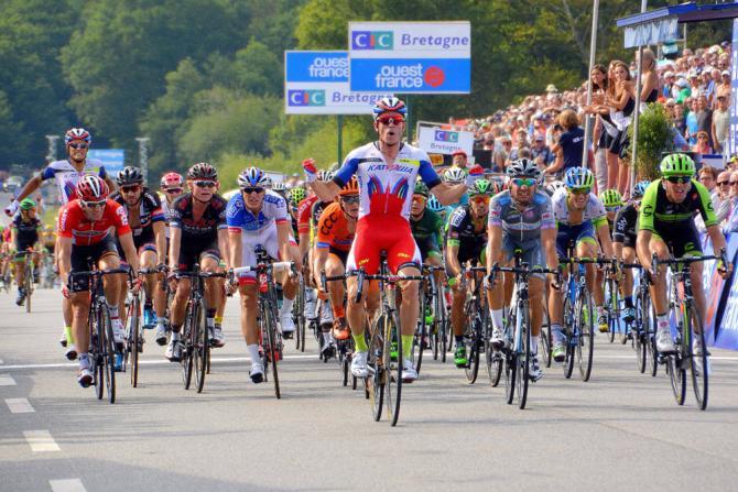Il norvegese Kristoff a Plouay vince la sua seconda corsa dellUCI World Tour 2015 dopo il Giro delle Fiandre (Tim de Waele/TDWSport.com)