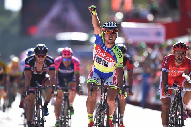 Dopo un digiuno durante ben 3 anni, a Malaga Peter Sagan torna a riassaporare la gioia del successo ottenuto in una frazione di un grande giro (foto Tim de Waele/TDWSport.com)