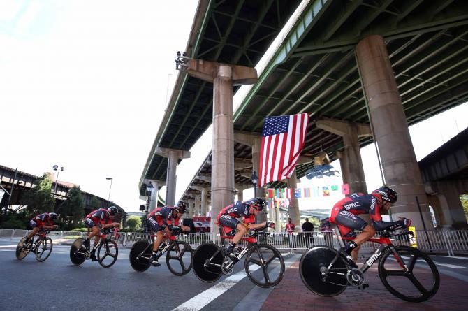 La BMC vola verso il secondo successo consecutivo nella cronosquadre mondiale (foto Tim de Waele/TDWSport.com)