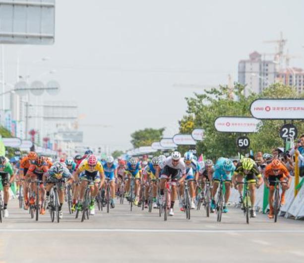 Il volatone che ha deciso la settima frazione del Tour of Hainan (foto Jean-François Quénet)