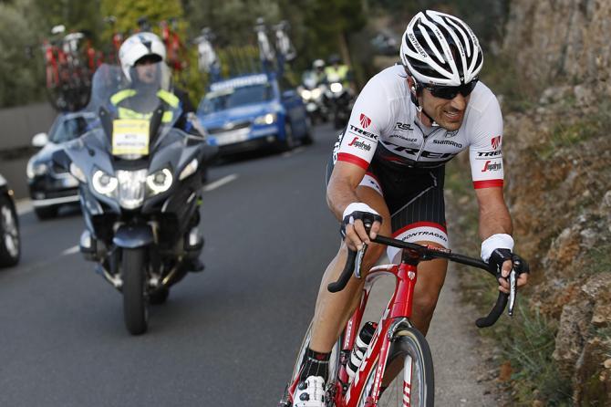 Cancellara allattacco nel finale della terza prova del challenge maiorchino (foto Bettini)