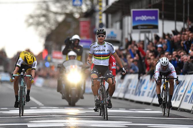 Sagan si sblocca e ottiena alla Gand-Wevelgem la sua prima vittoria stagionale (foto Tim de Waele/TDWSport.com)
