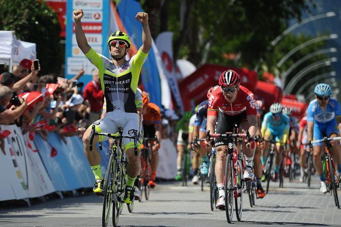 Mareczko si impone con autorità in quel di Kemer castigando un mammasantissima dello sprint come il tedesco Greipel (Getty Images Sport)