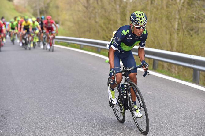 Quintana allattacco sulla salita finale di Morgins (foto Tim de Waele/TDWSport.com)