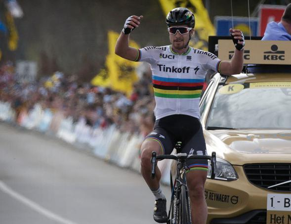 Sagan sfata la maledizione della maglia iridata e si impone nelledizione numero 100 del Giro delle Fiandre (foto Bettini)