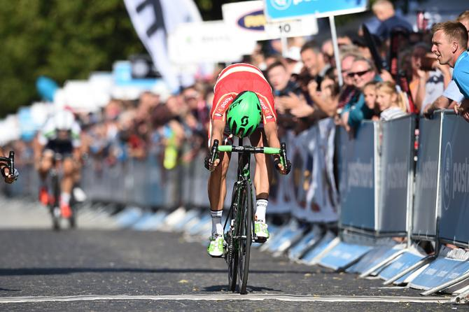 Larrivo vincente di Cort Nielsen (foto Getty Images Sport)