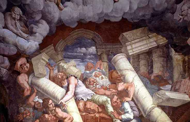 I giganti respinti dallOlimpo nella raffigurazione dipinta da Giulio Romano per il Palazzo Te di Mantova