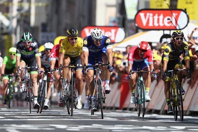 Kittel finalmente riesce ad agguantare il successo sul traguardo di Limoges (foto Getty Images Sport)