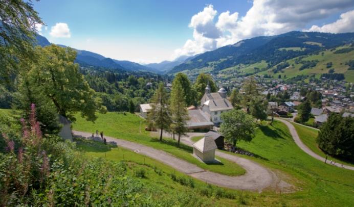 Megève vista dalla collina del chemin du Calvaire (megeve.com)