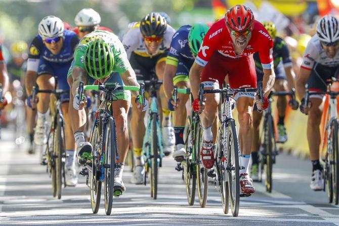 Sagan al colpo di reni, fatale per Kristoff (foto Bettini)