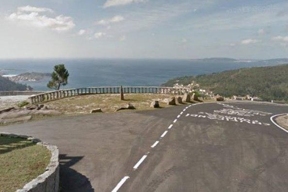 La spettacolare balconata panoramica del Mirador de Ézaro, location del primo arrivo in salita della Vuelta 2016 (foto Google Street View)