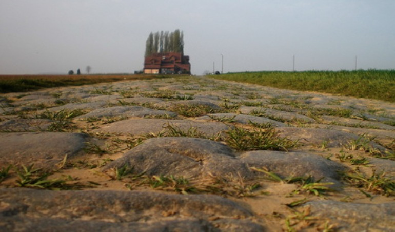 Un suggestivo scorcio del Carrefour de lArbre, lultimo tra i più impegnativi tratti di pavè della Parigi-Roubaix (Panoramio)