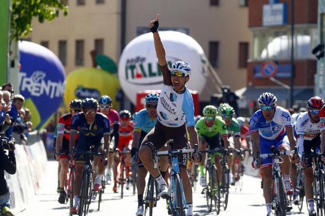 Matteo Montaguti torna al successo dopo 7 anni dattesa e lascia la sua impronta nella 4a frazione del Tour of the Alps (foto Bettini)