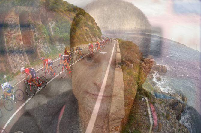 Terminata la fase isolana, il Giro sbarca sulle strade del continente, sempre accompagnato dal ricordo di Michele Scarponi (foto Bettini)