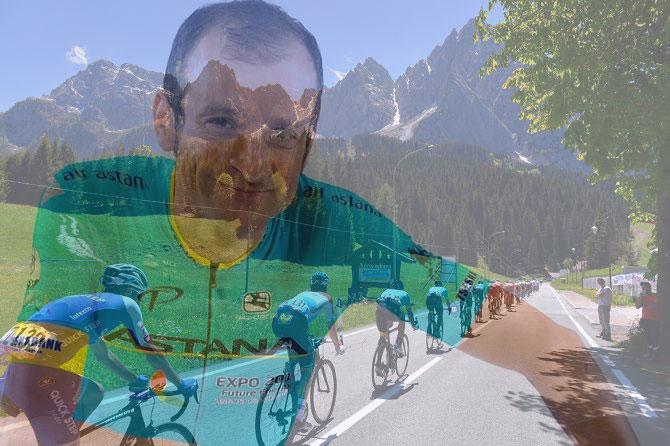 Nel giorno di Piancavallo è arrivata anche la dedica per lindimenticato Scarponi (foto Tim de Waele/TDWSport.com)