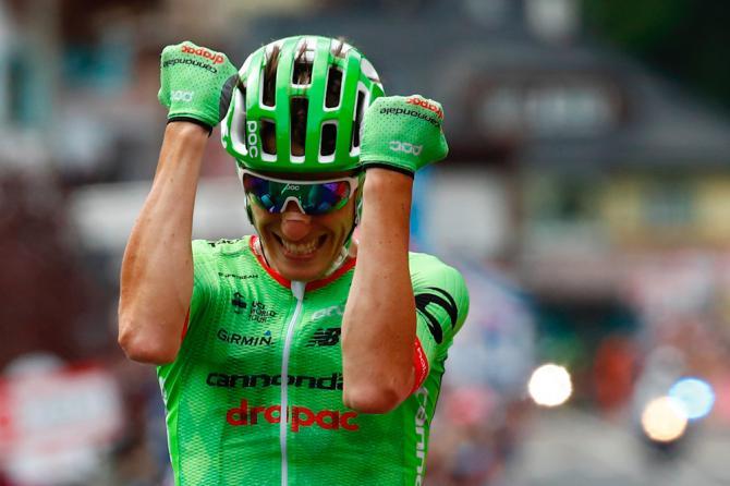 Pierre Rolland trionfa tra le Dolomiti, in attesa di affrontare domani nel tappone di Ortisei (Getty Images Sport)