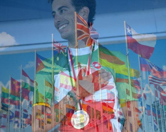 Fabio Aru in maglia tricolore (Eurosport)