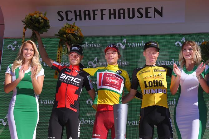 Il podio dell81° Tour de Suisse (foto Tim de Waele/TDWSport.com)