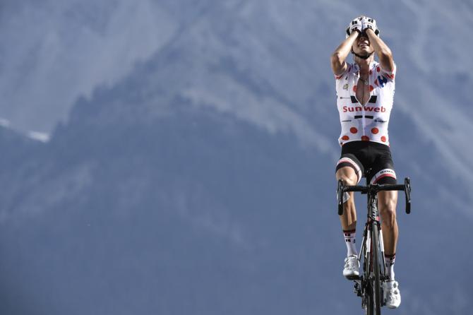 Barguil in trionfo nel fantastico scenario del Col dIzoard (Getty Images Sport)
