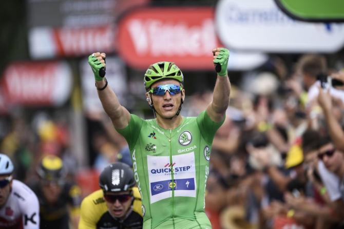 Kittel mostra i pugni anche a Bergerac, sua quarta perla al Tour de France 2017 (Getty Images Sport)