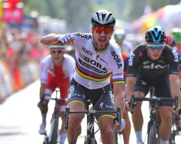 Sagan alza il gomito anche in Polonia, ma stavolta è tutto ok (Tim de Waele/TDWSport.com)