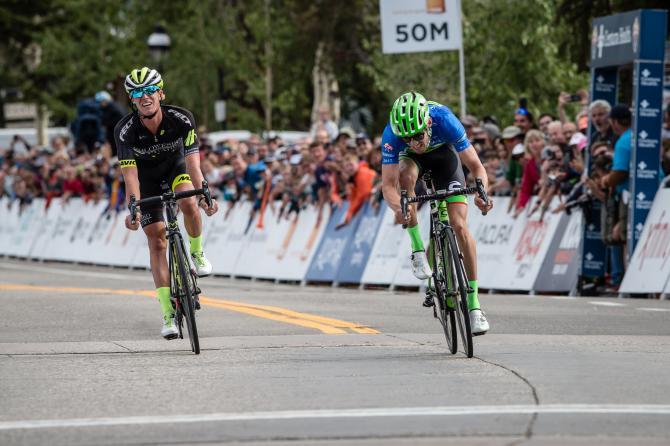 Lo sprint a due voci che ha deciso la seconda frazione della Colorado Classic (foto Jonathan Devich)