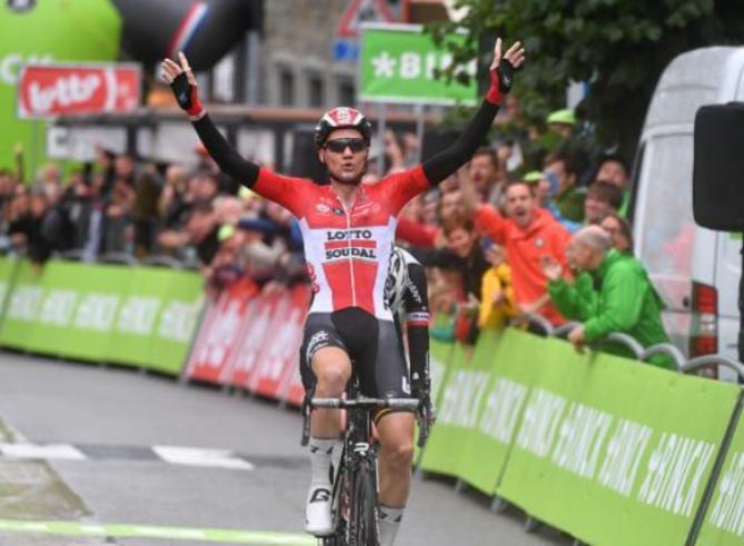 Tim Wellens vince la penultima tappa del BinckBank Tour, frazione rivelatasi fondamentale per i giochi di classifica della corsa belgo-olandese (Tim de Waele/TDWSport.com)