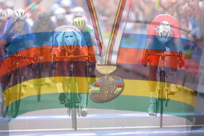 Il colpo di reni che è valso a Sagan la conquista del terzo mondiale (Tim de Waele/TDWSport.com)