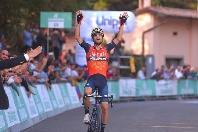 Visconti ritrova la vittoria in cima alla dura erta di San Luca (Tim de Waele/TDWSport.com)