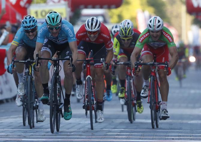Bennett primo anche sul secondo traguardo del Giro di Turchia 2017 (foto Bettini)